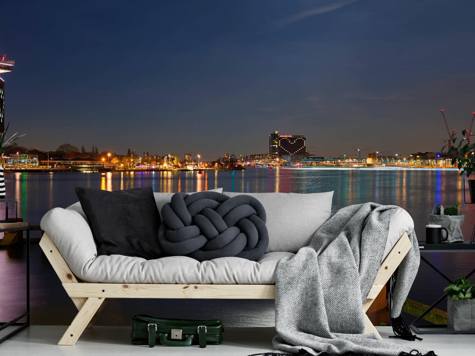 Steden behang - Supermaan in Amsterdam - Slaapkamer 6