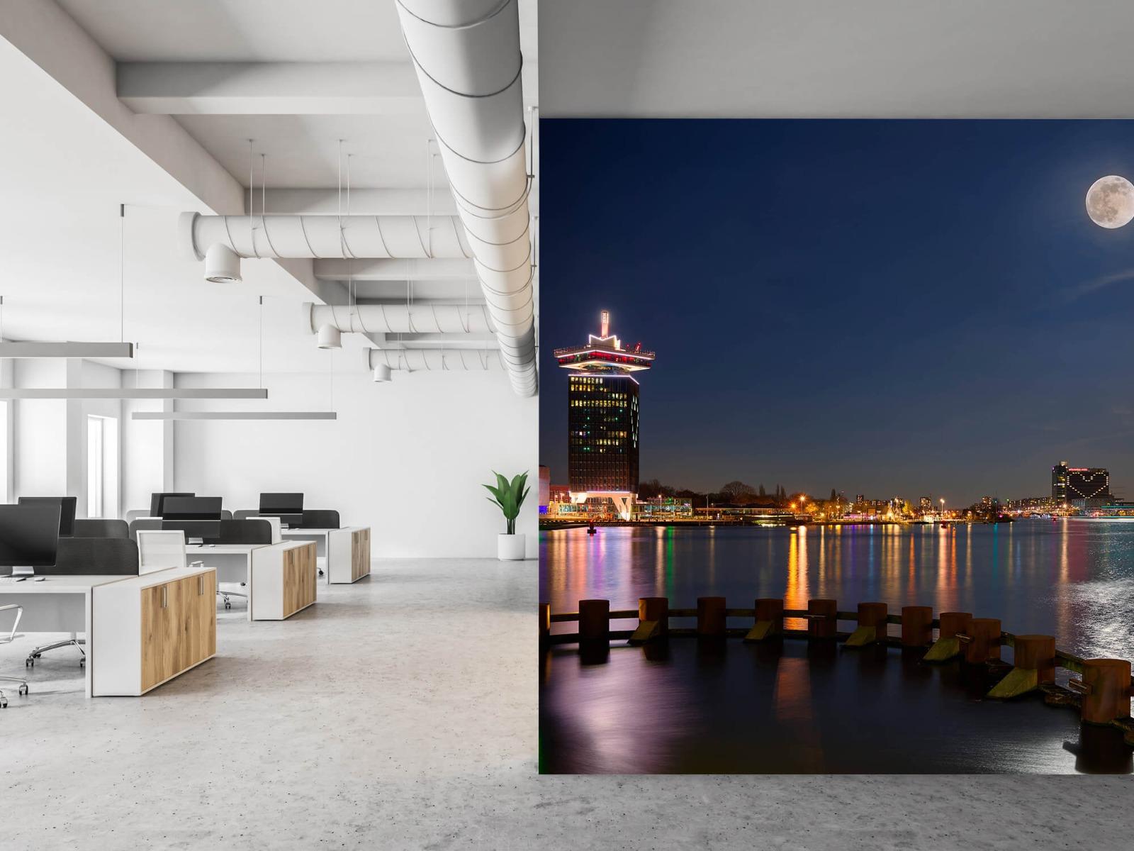 Steden behang - Supermaan in Amsterdam - Slaapkamer 21