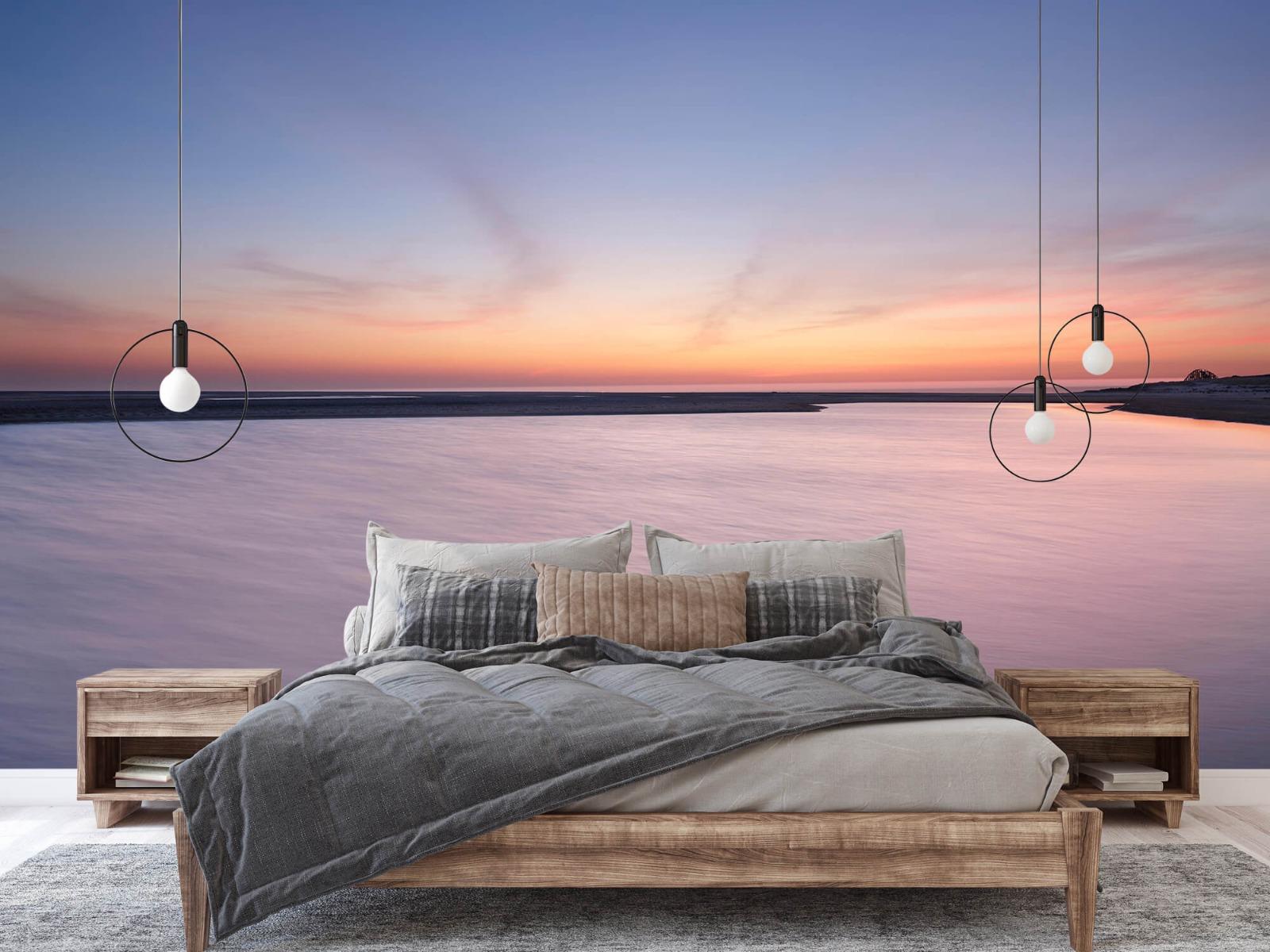 Zeeën en Oceanen - Zonsondergang aan zee - Slaapkamer 2