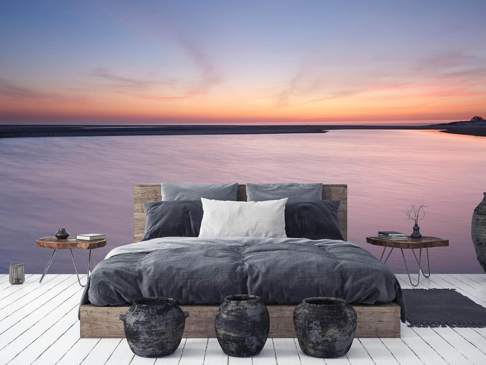Zeeën en Oceanen - Zonsondergang aan zee - Slaapkamer 6
