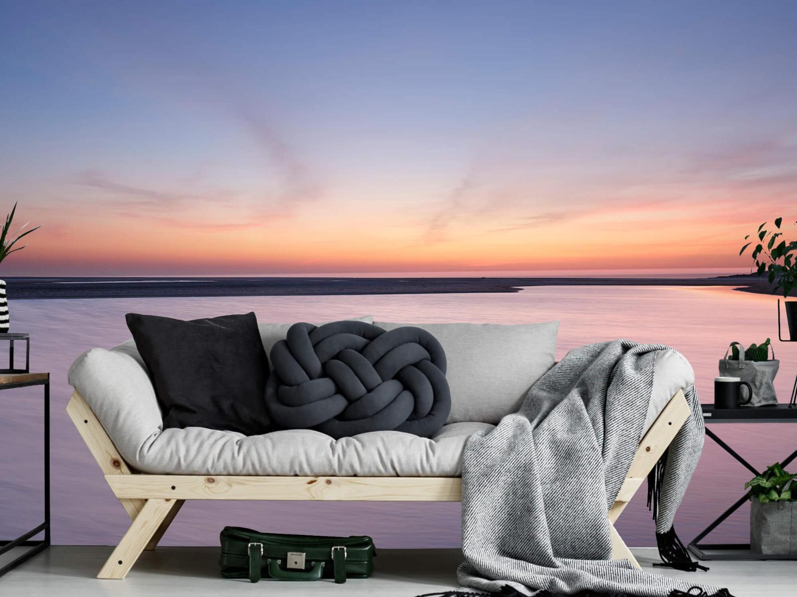 Zeeën en Oceanen - Zonsondergang aan zee - Slaapkamer 7
