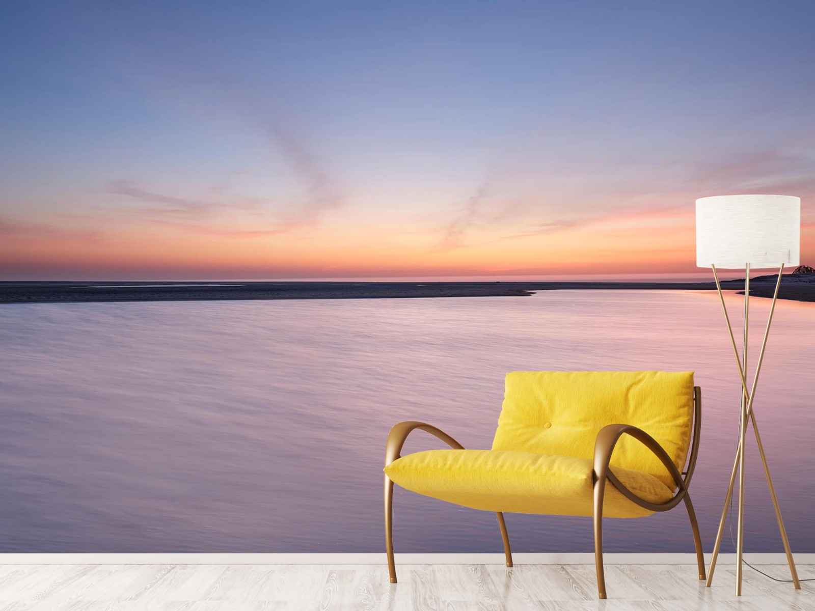Zeeën en Oceanen - Zonsondergang aan zee - Slaapkamer 10