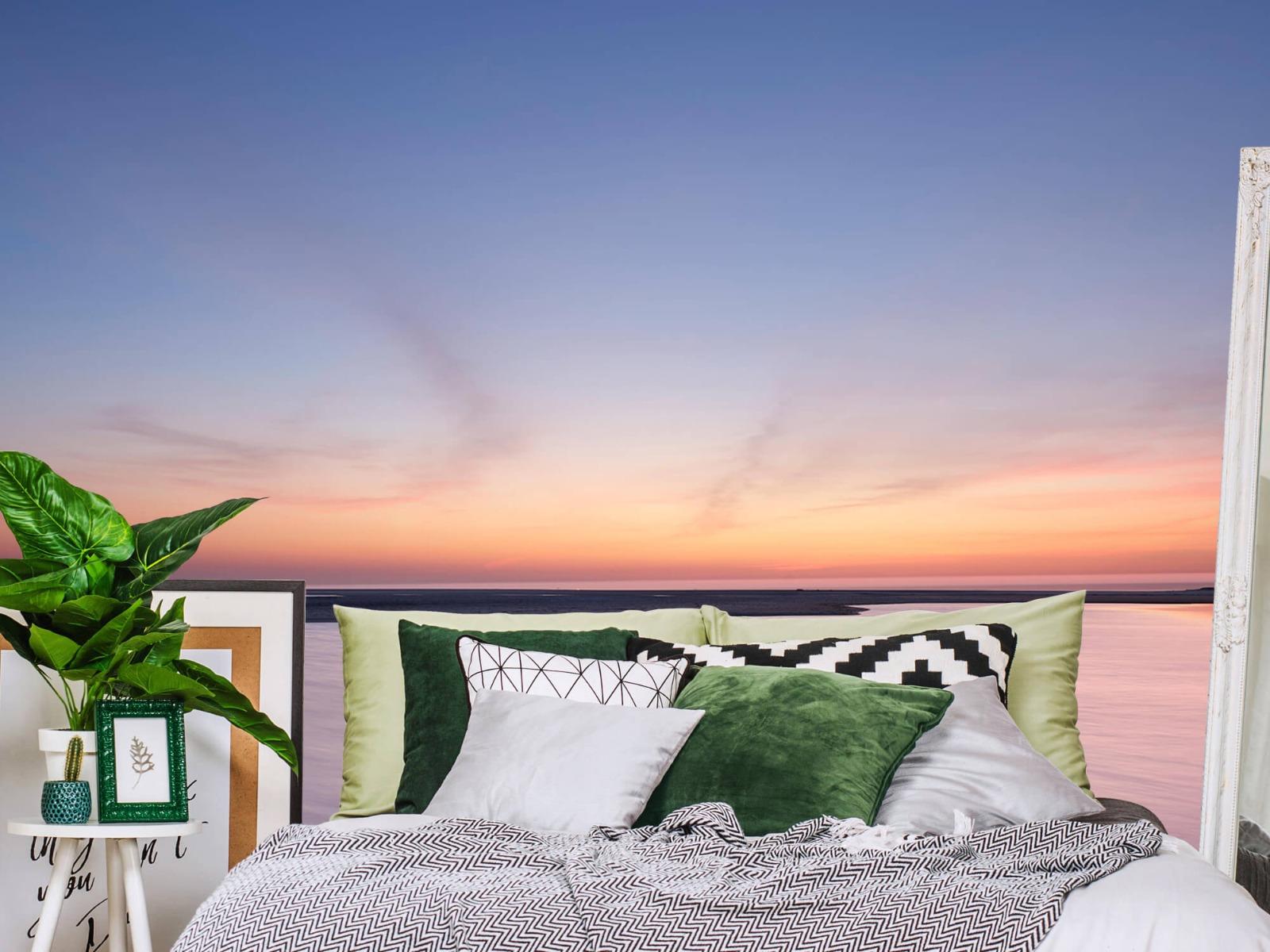 Zeeën en Oceanen - Zonsondergang aan zee - Slaapkamer 12