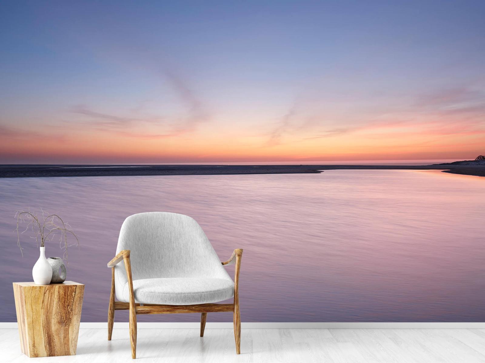 Zeeën en Oceanen - Zonsondergang aan zee - Slaapkamer 18