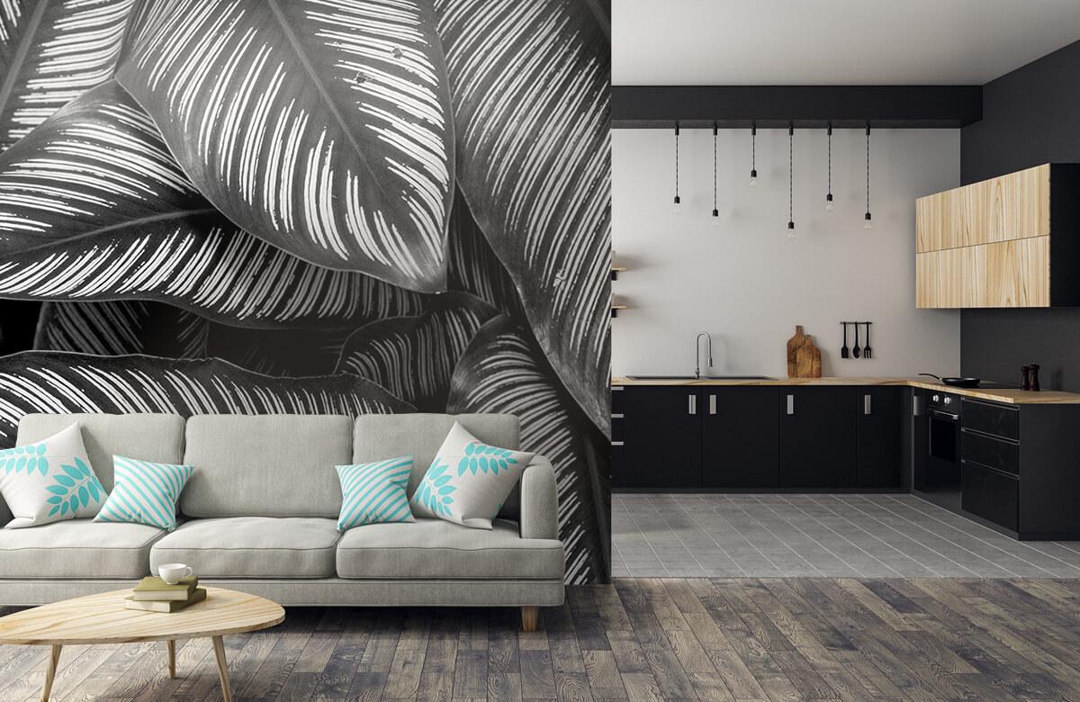 Jungle Zwart-wit palmbladeren 5
