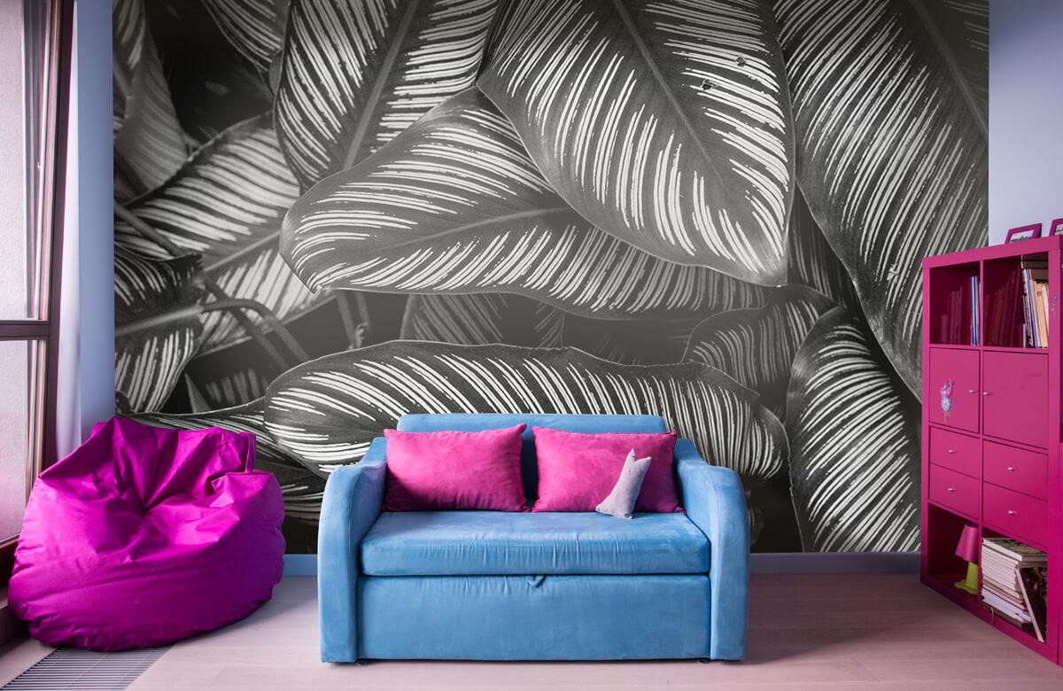 Jungle Zwart-wit palmbladeren 10