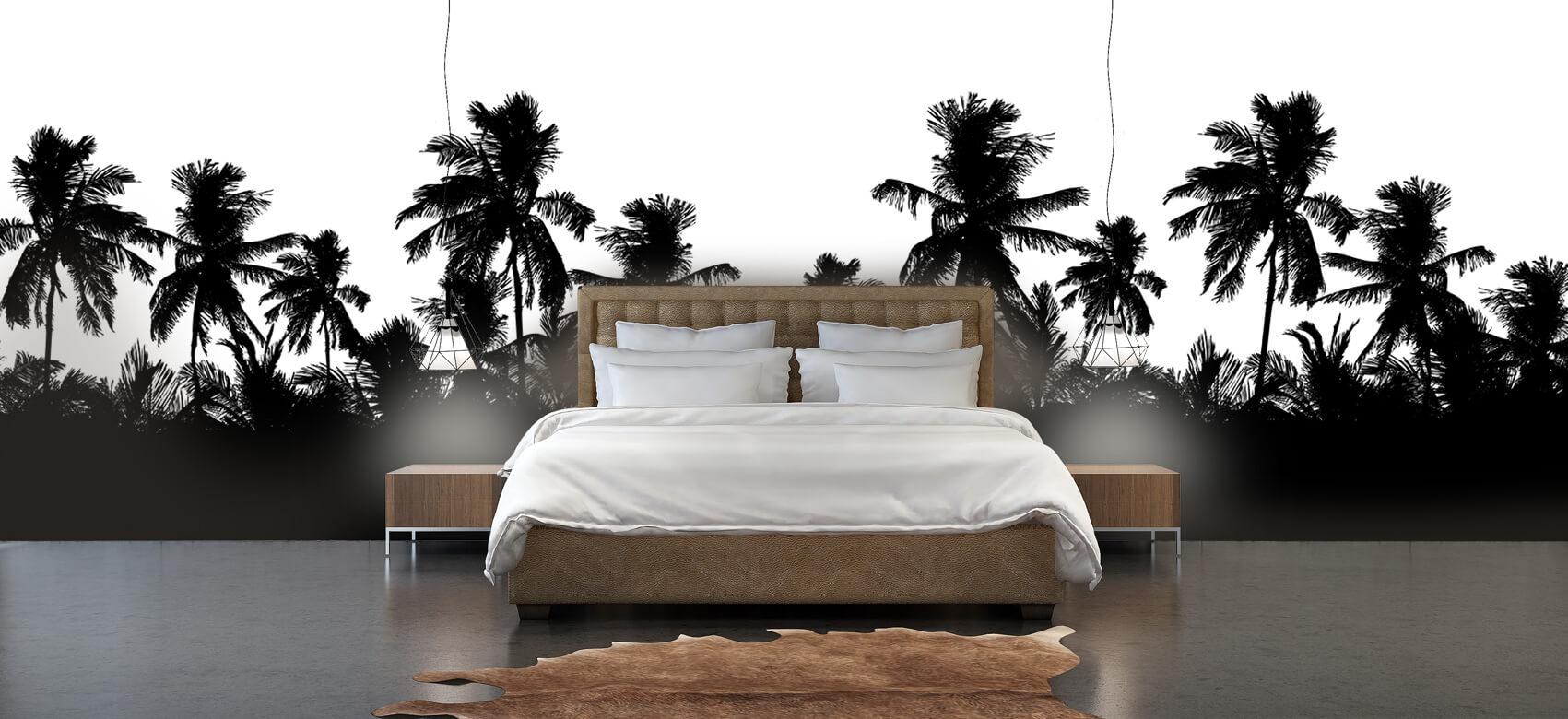 Jungle Silhouette palmbomen 4