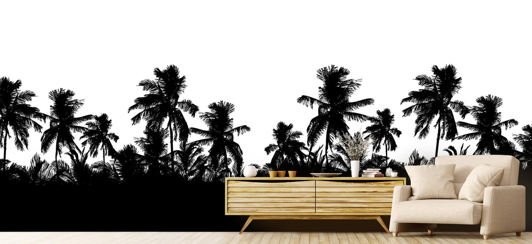 Jungle Silhouette palmbomen 7