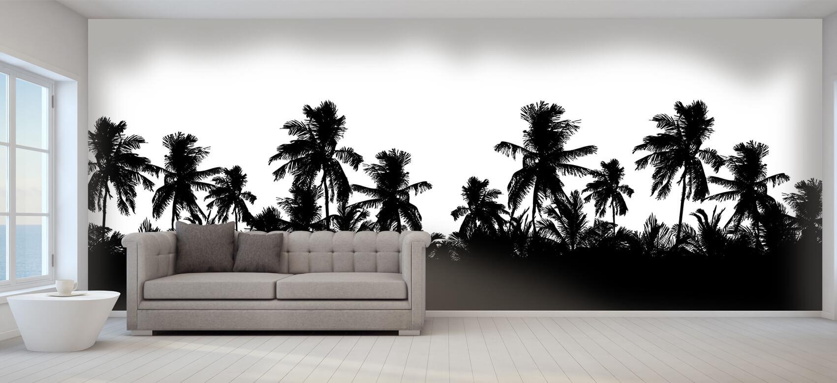 Jungle Silhouette palmbomen 1