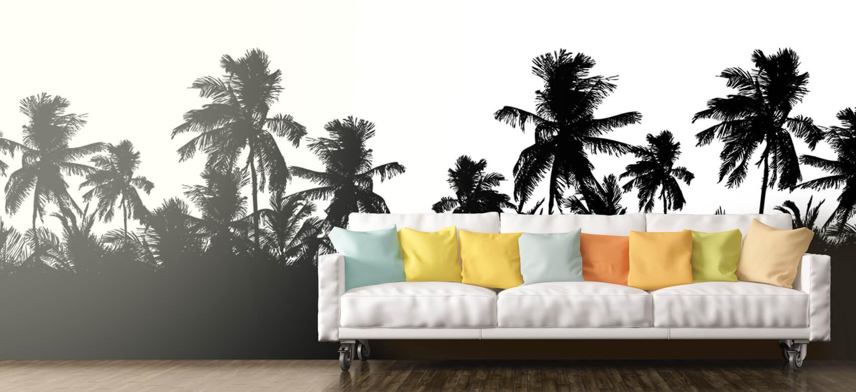 Jungle Silhouette palmbomen 11