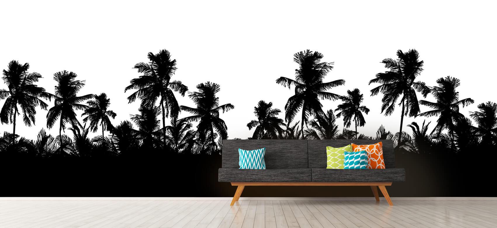 Jungle Silhouette palmbomen 12
