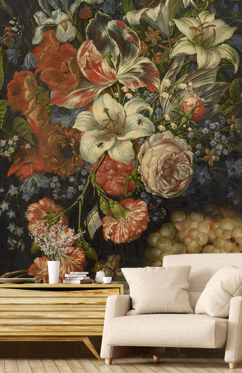 Kunst Stilleven met bloemen en vruchten 2