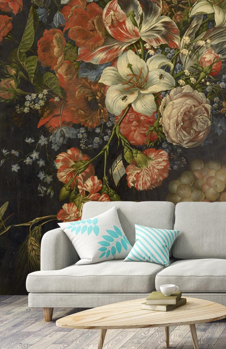 Kunst Stilleven met bloemen en vruchten 3