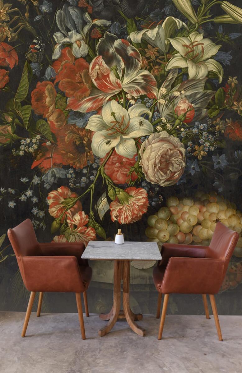 Kunst Stilleven met bloemen en vruchten 4