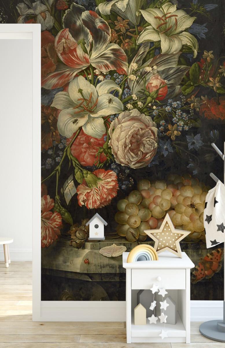 Kunst Stilleven met bloemen en vruchten 7