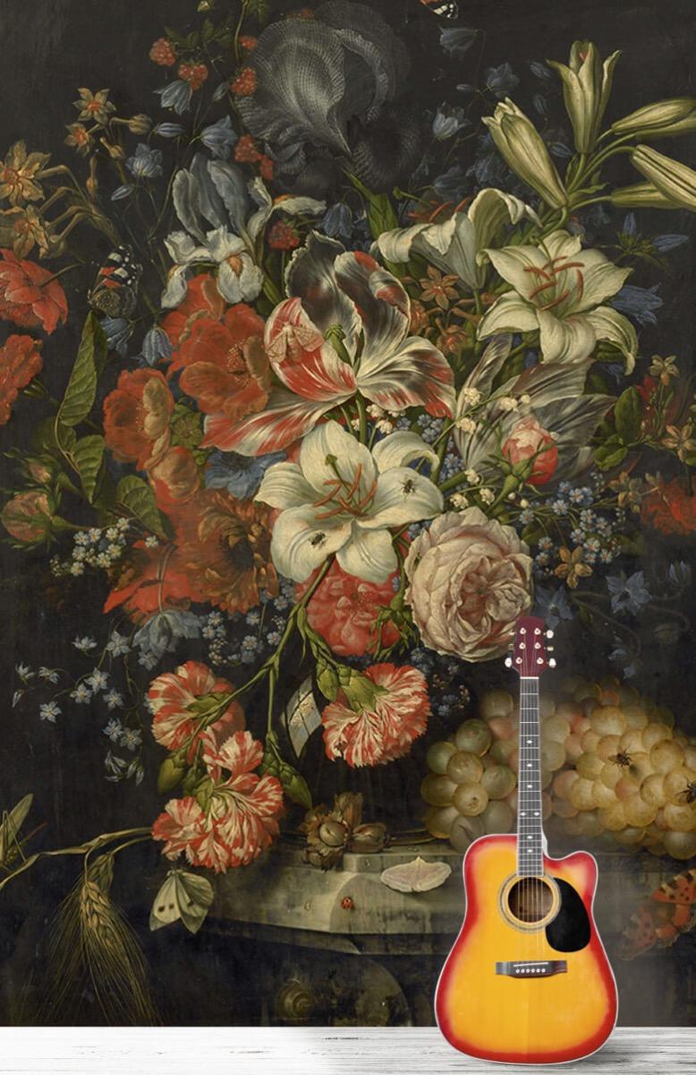 Kunst Stilleven met bloemen en vruchten 11
