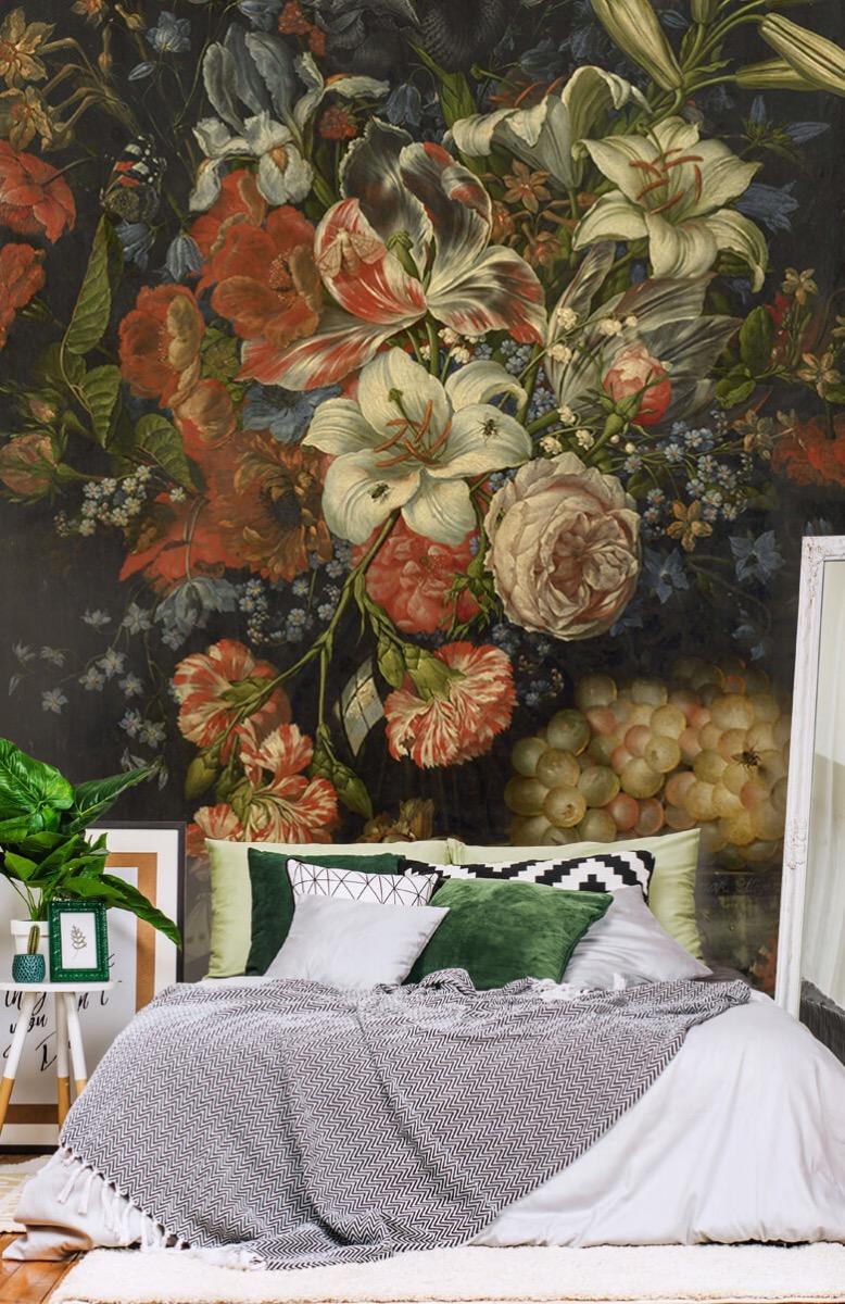 Kunst Stilleven met bloemen en vruchten 13