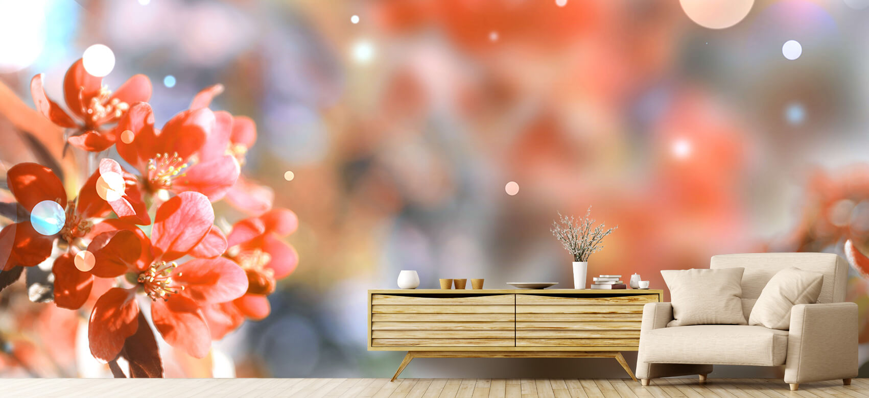 Natuur Bloeiende voorjaarsboom 1