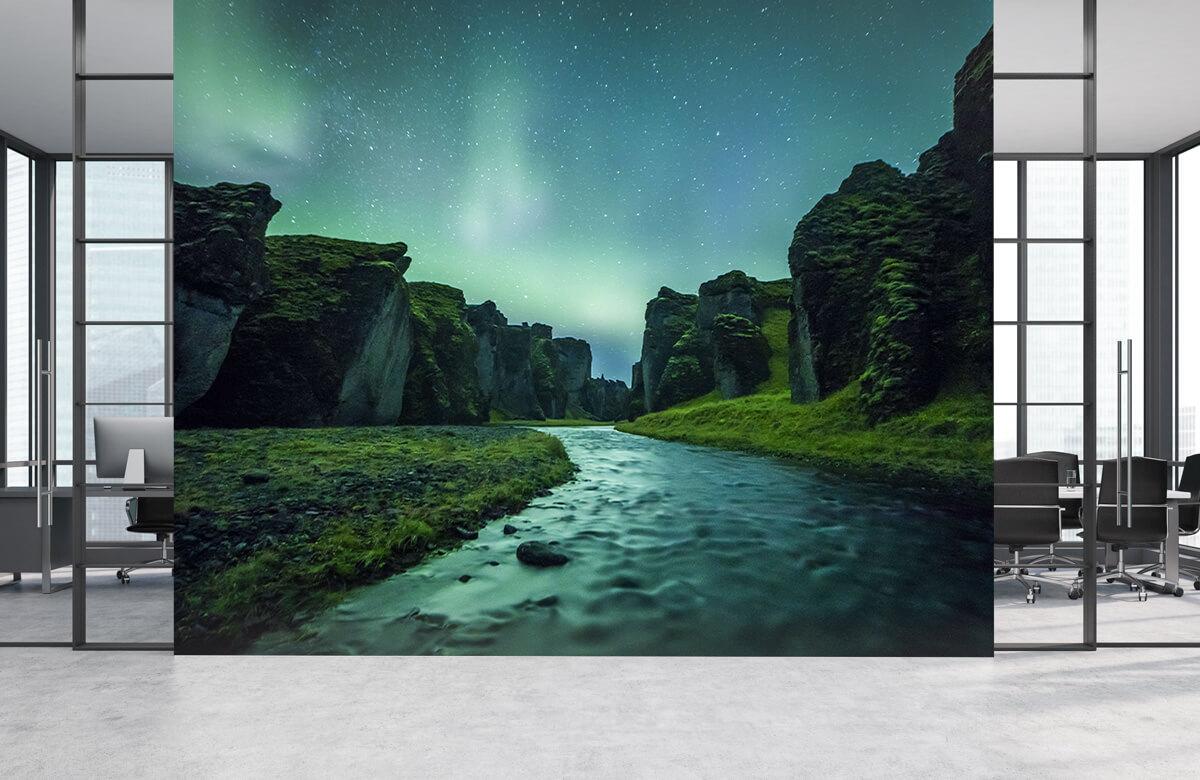 Natuur Noorderlicht boven de bergen 4