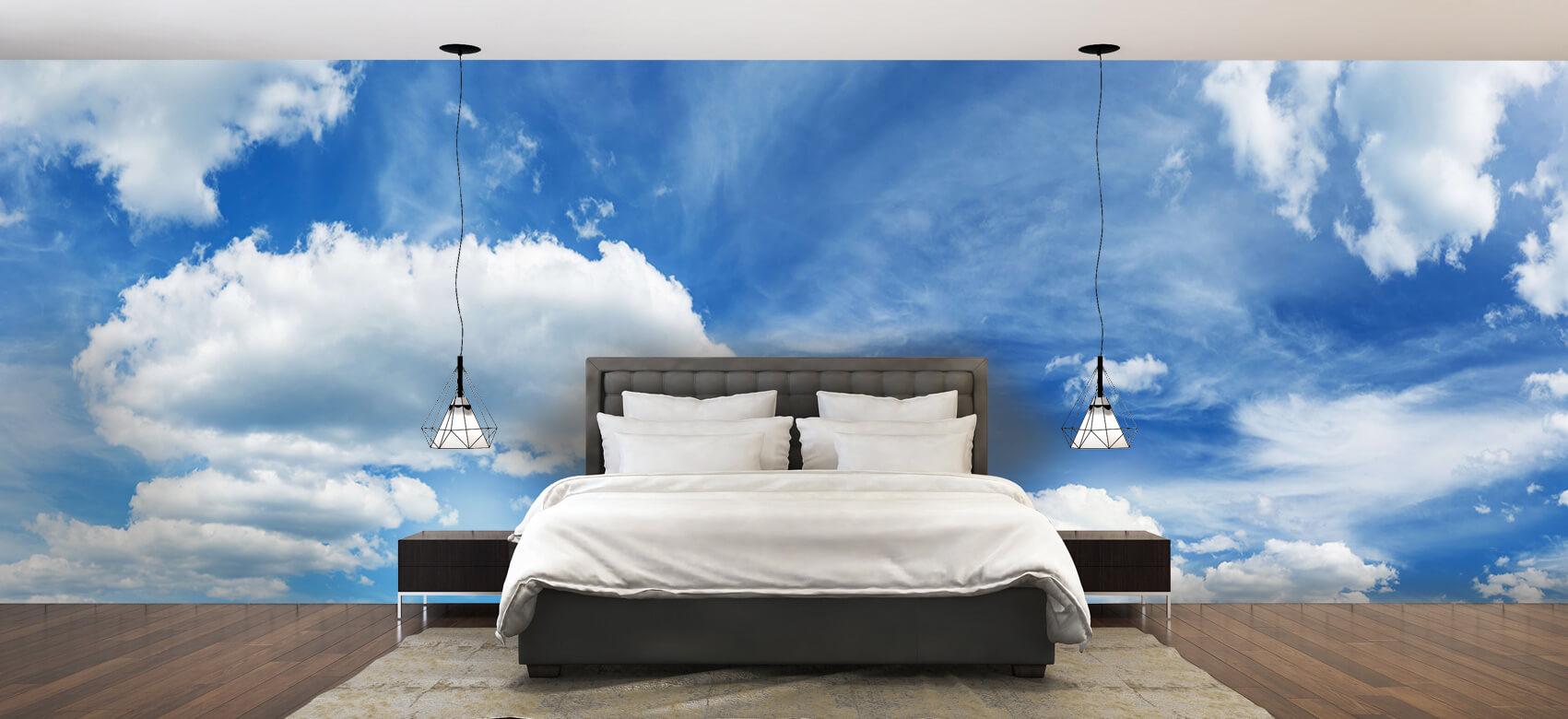 Natuur Blauwe lucht met wolken 2