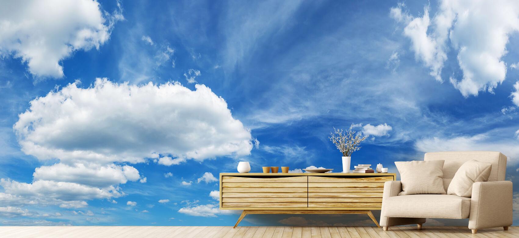Natuur Blauwe lucht met wolken 7