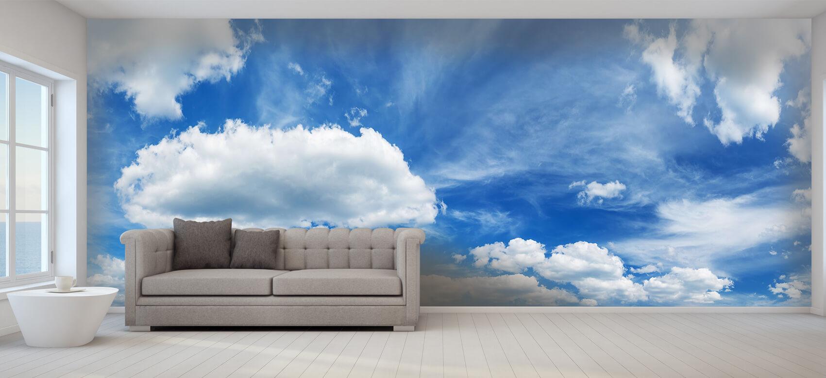Natuur Blauwe lucht met wolken 1