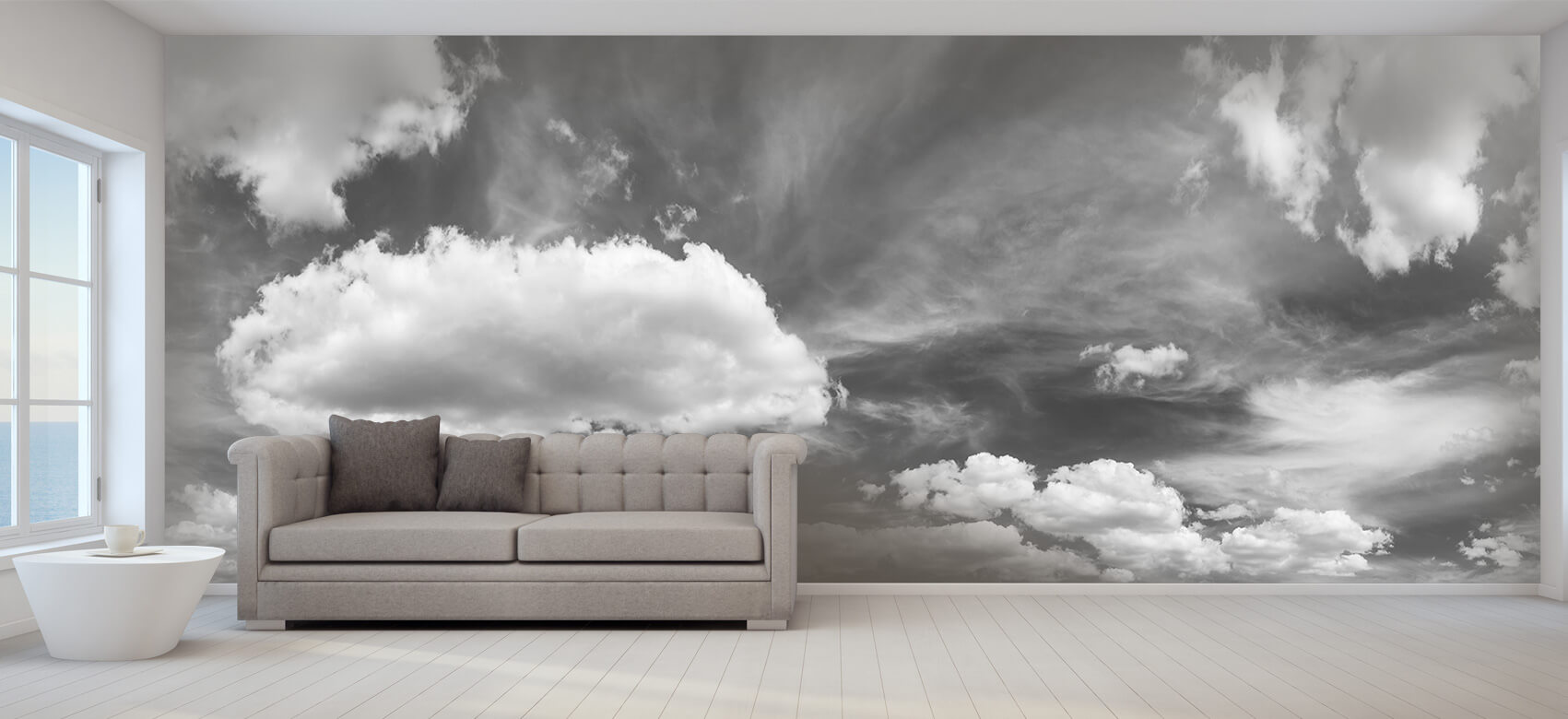 Natuur Blauwe lucht met wolken 9