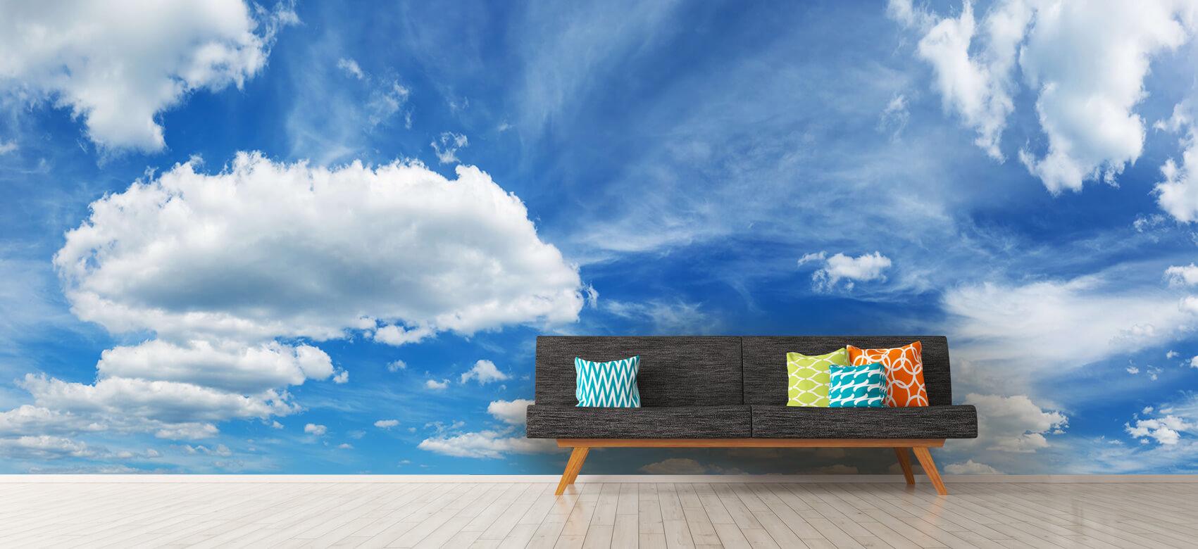 Natuur Blauwe lucht met wolken 12