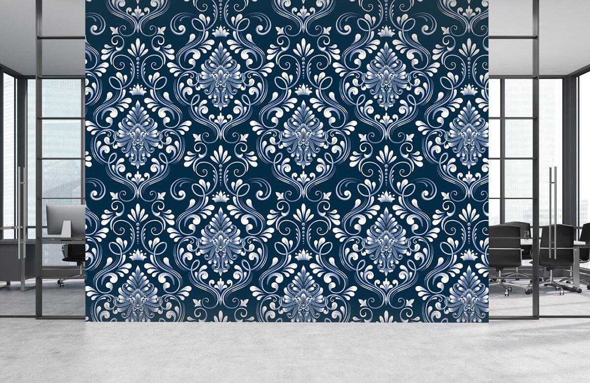 Patronen Blauw barok 4