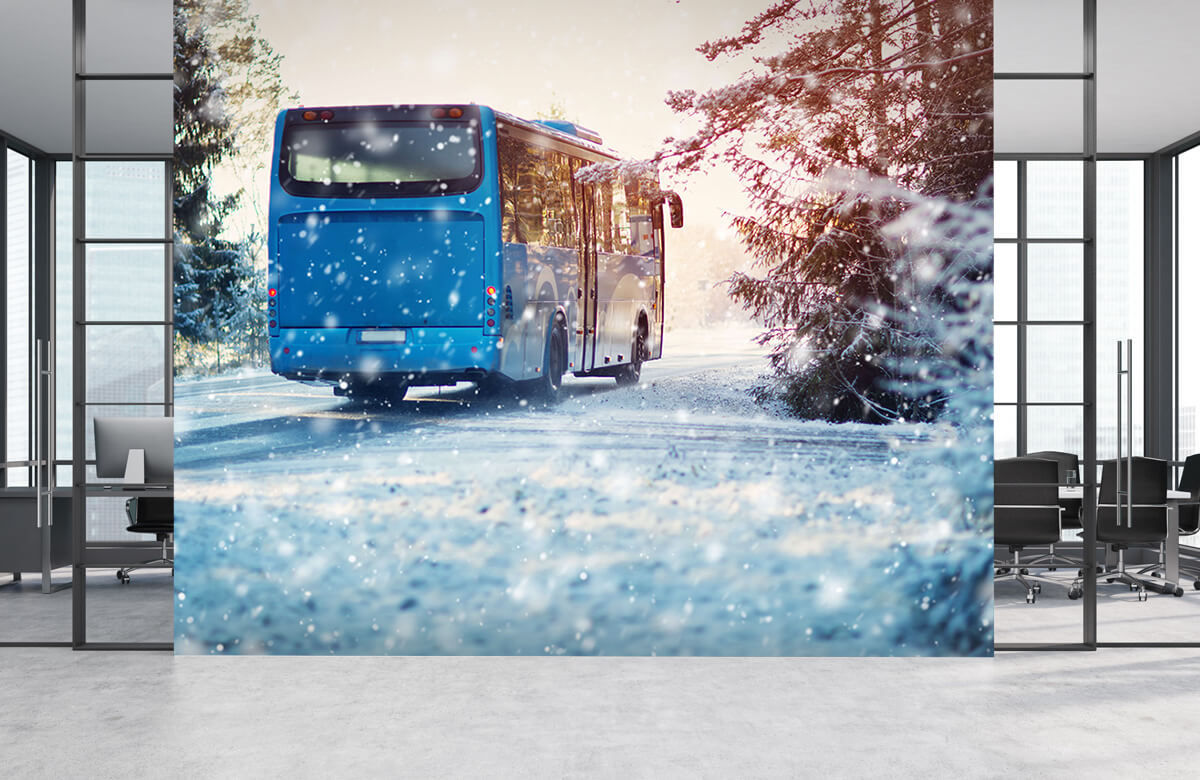 Transport Bus in de winter 4