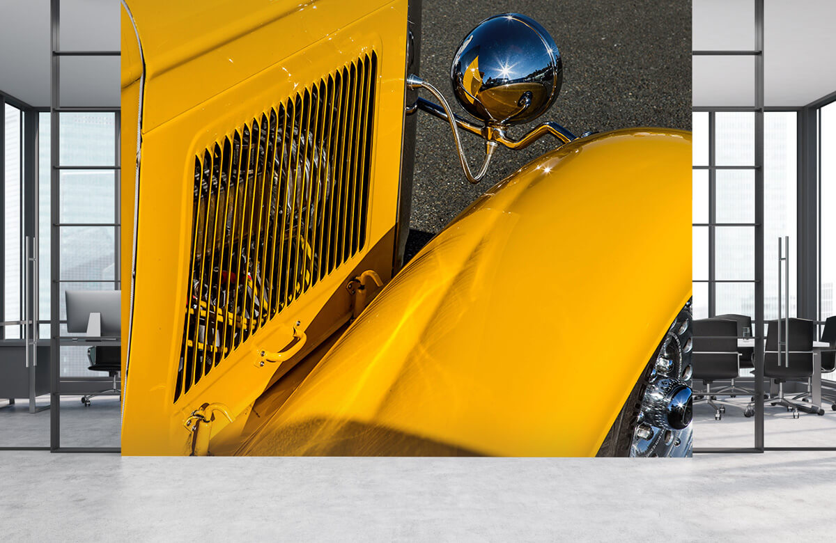 Transport Detail oude gele bus 3