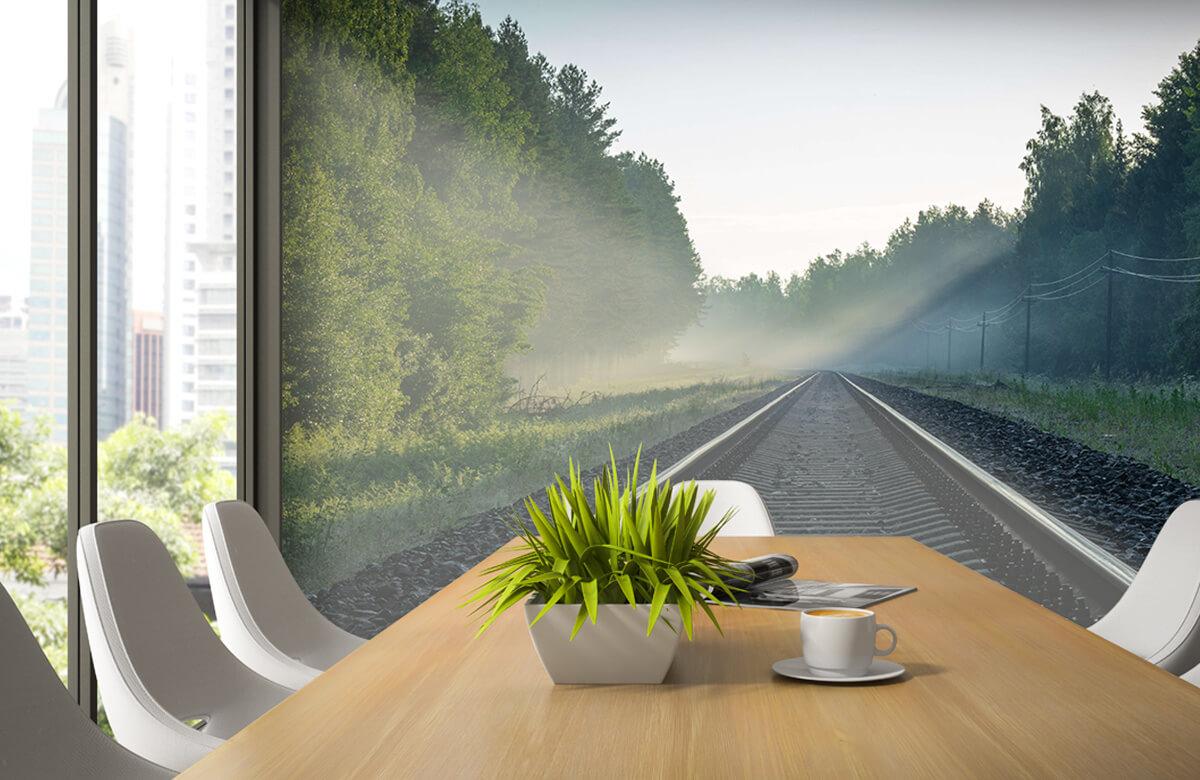 Transport Treinrails door het bos 1