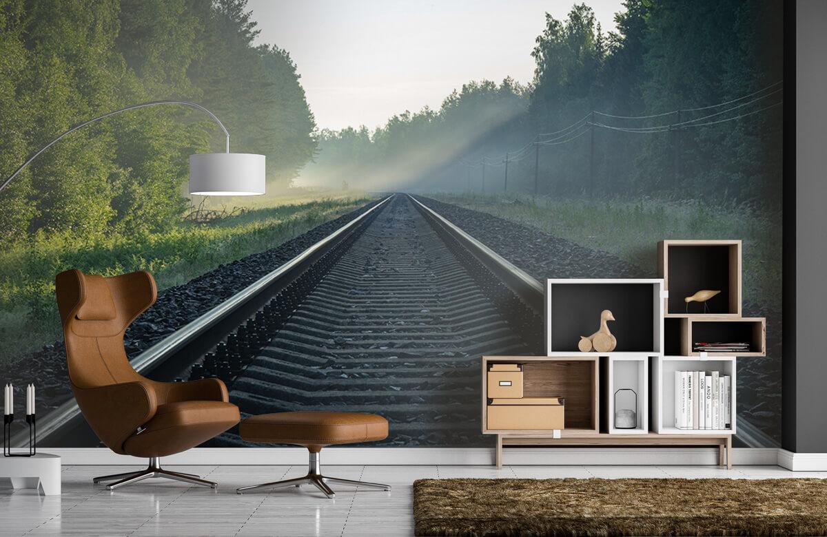 Transport Treinrails door het bos 4