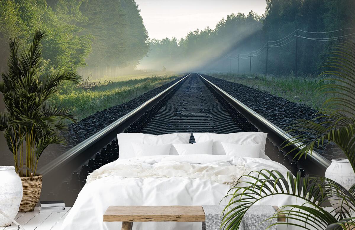 Transport Treinrails door het bos 6