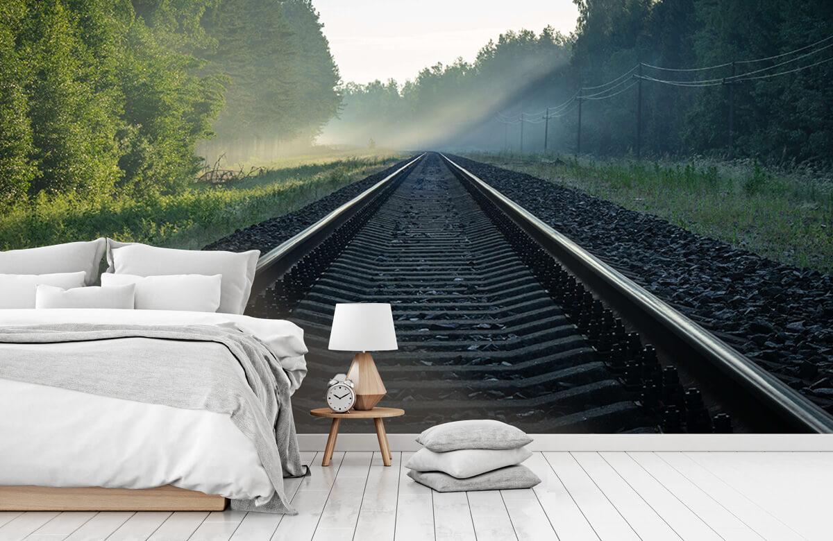 Transport Treinrails door het bos 7