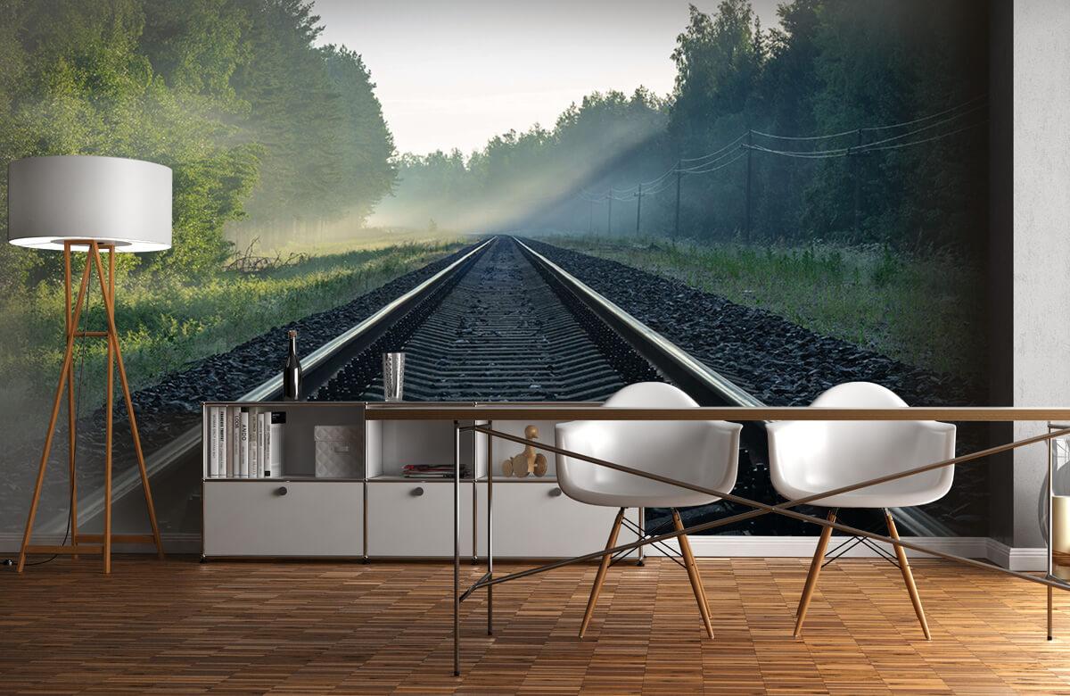 Transport Treinrails door het bos 11