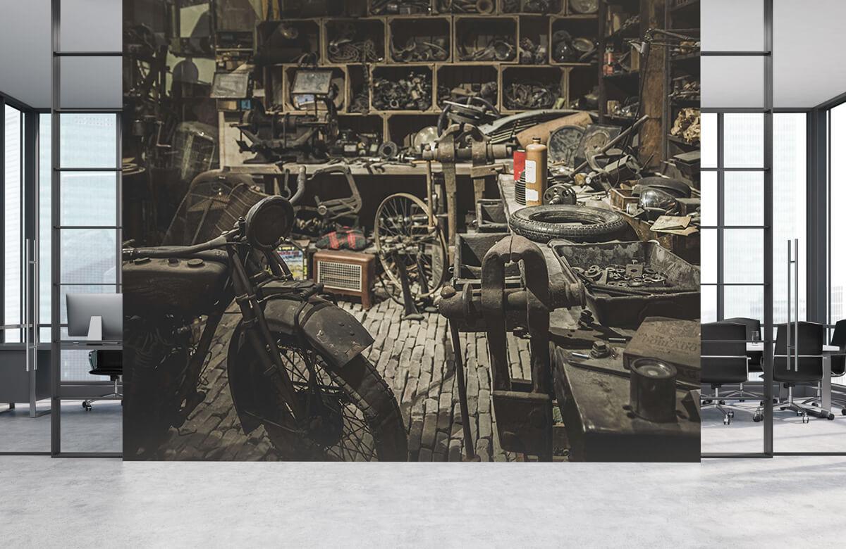 Transport Oude motor werkplaats 4