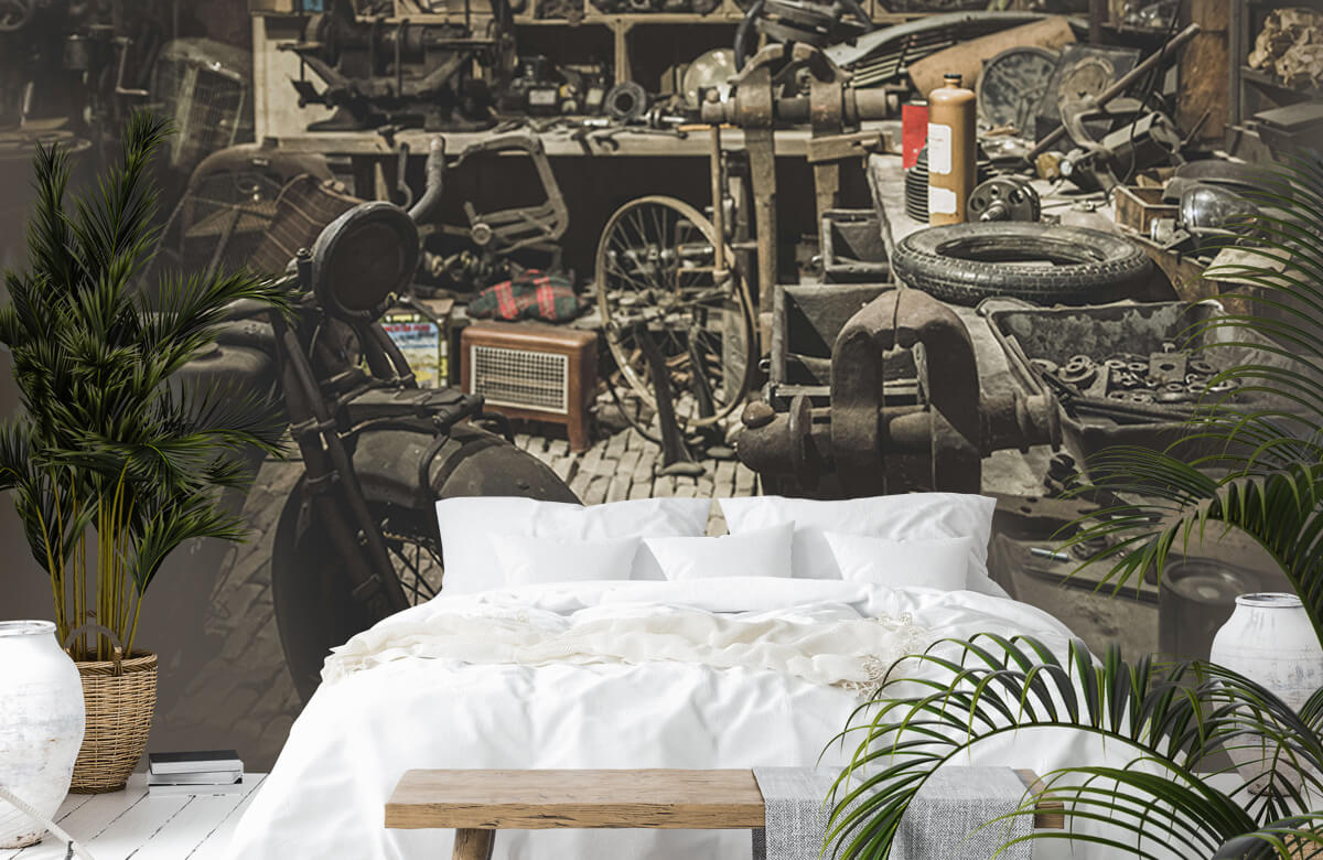 Transport Oude motor werkplaats 7
