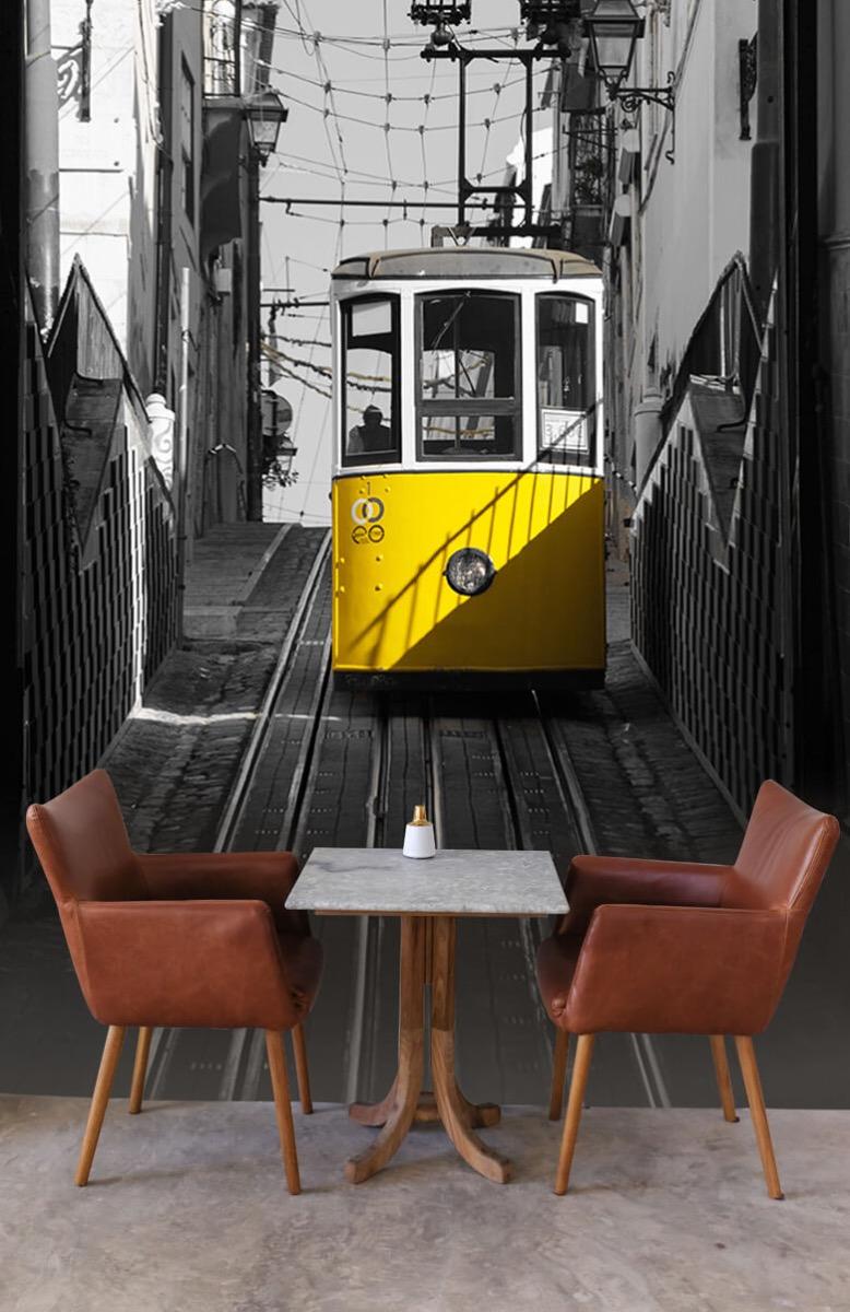 Transport Tram zwart wit geel 4