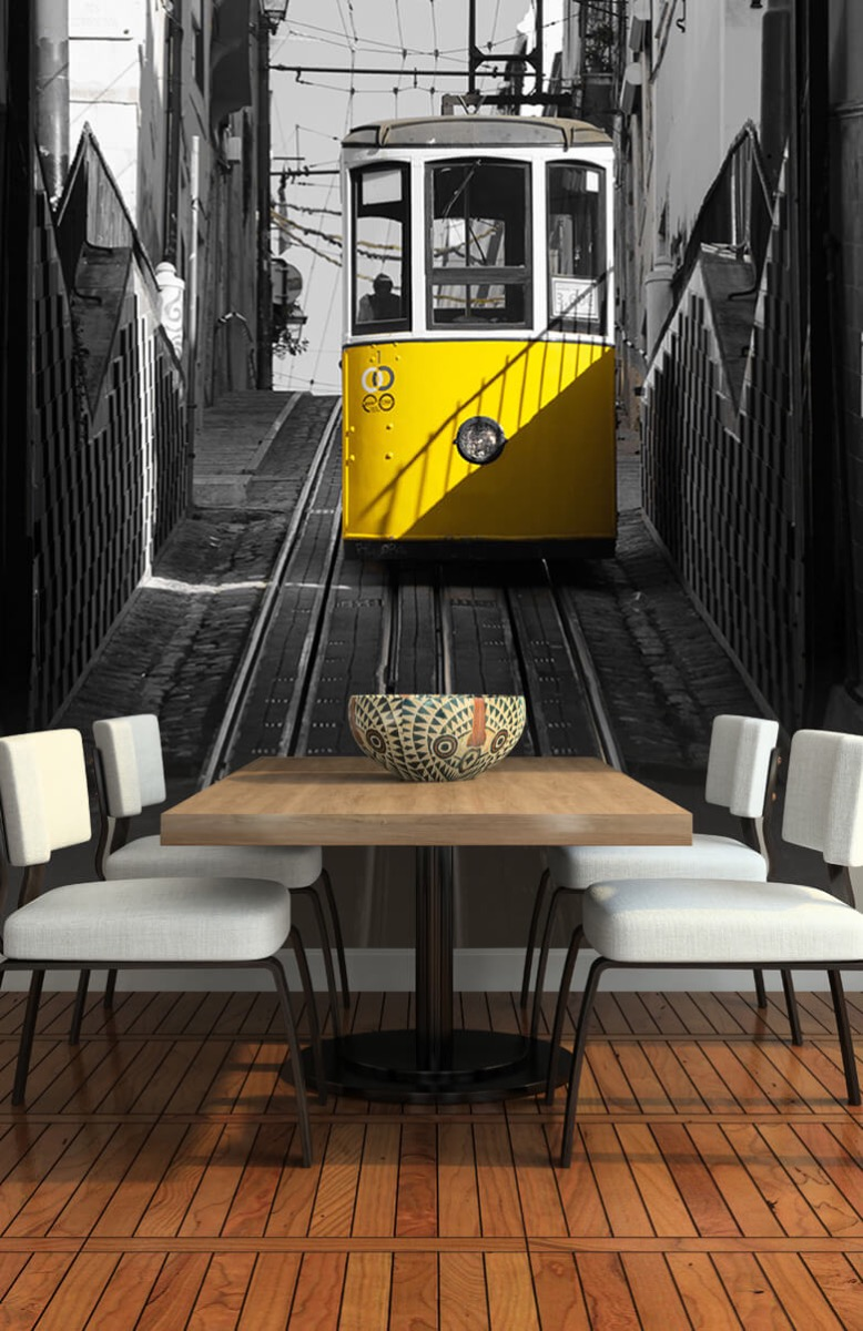 Transport Tram zwart wit geel 5