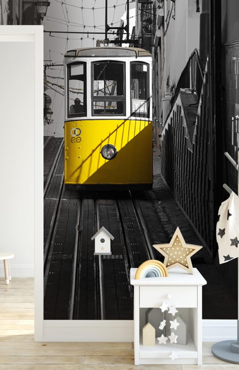 Transport Tram zwart wit geel 6