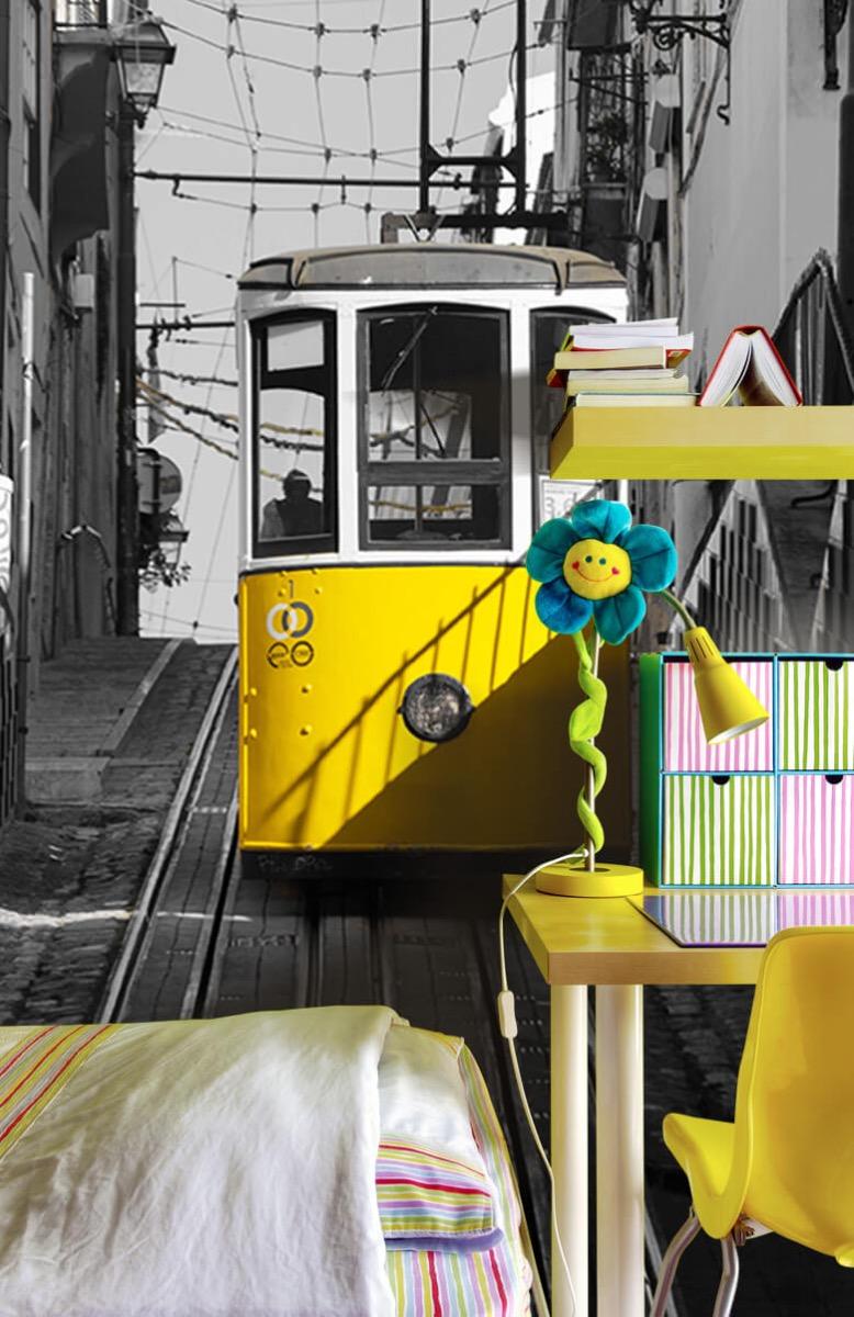 Transport Tram zwart wit geel 7