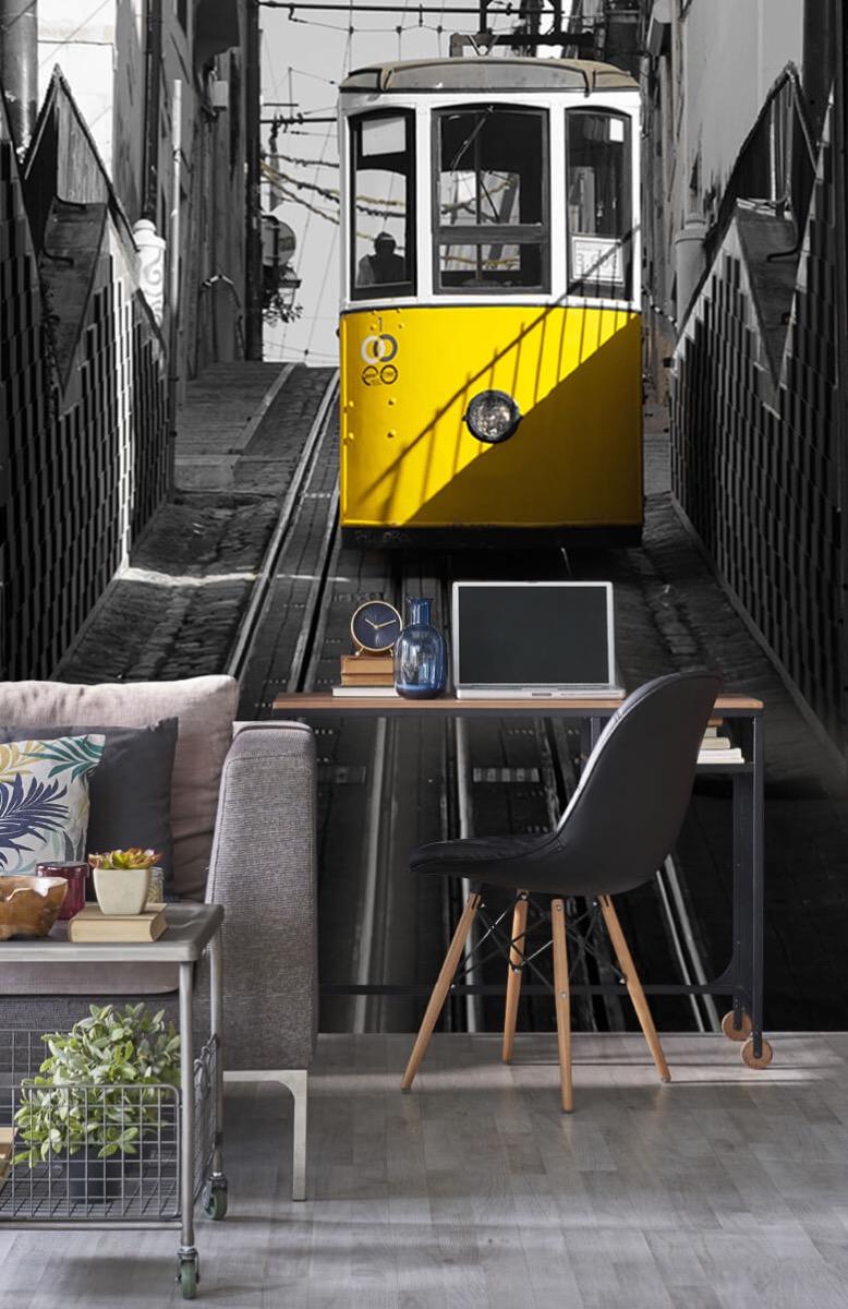 Transport Tram zwart wit geel 8