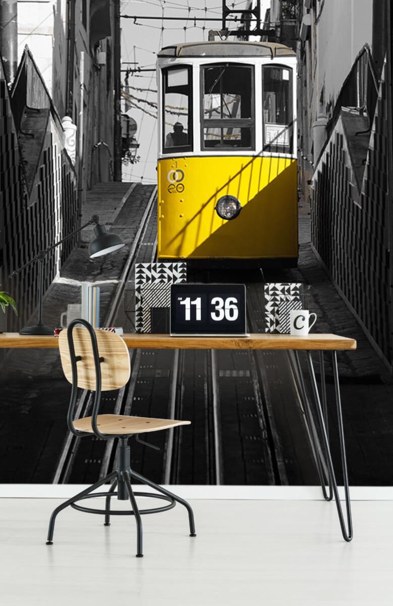 Transport Tram zwart wit geel 9