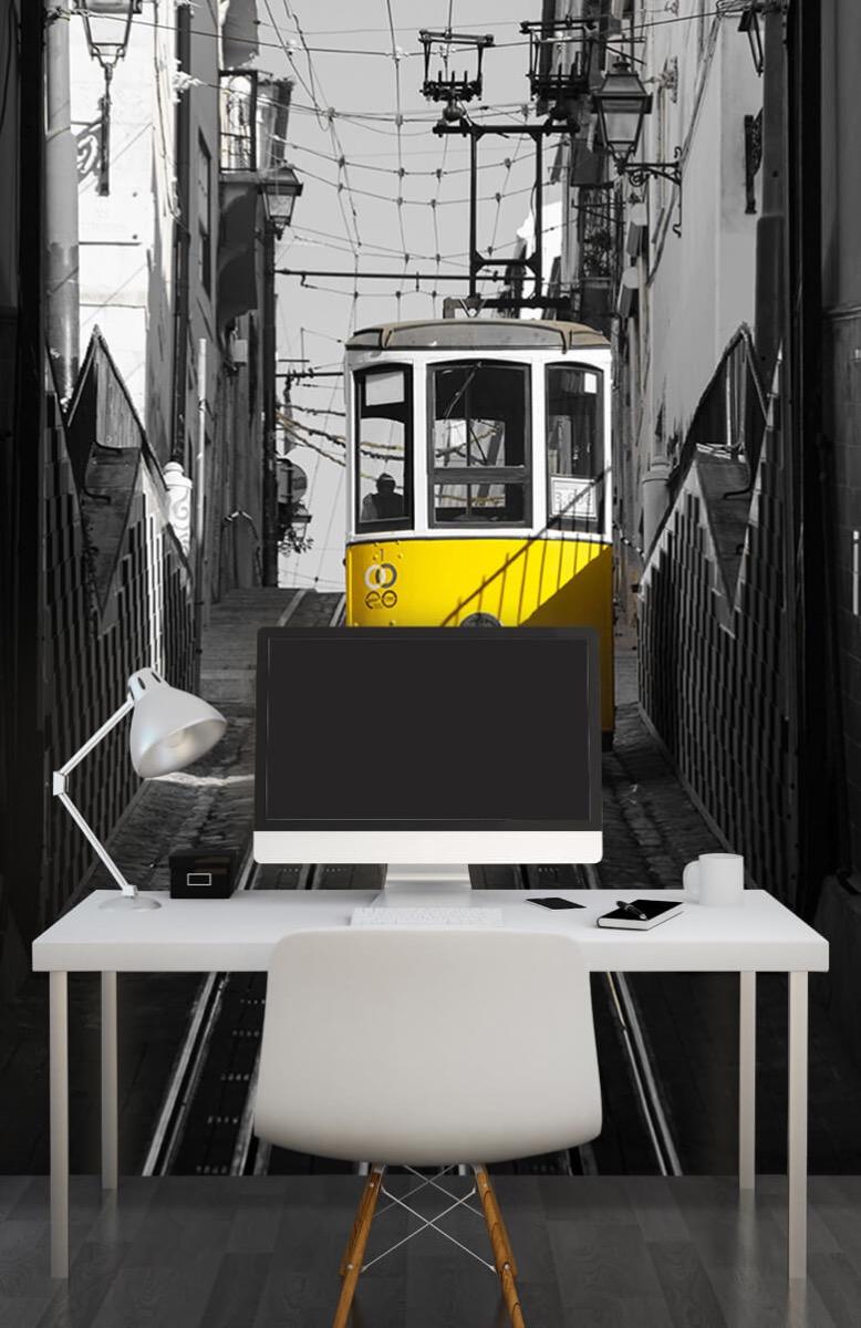 Transport Tram zwart wit geel 10