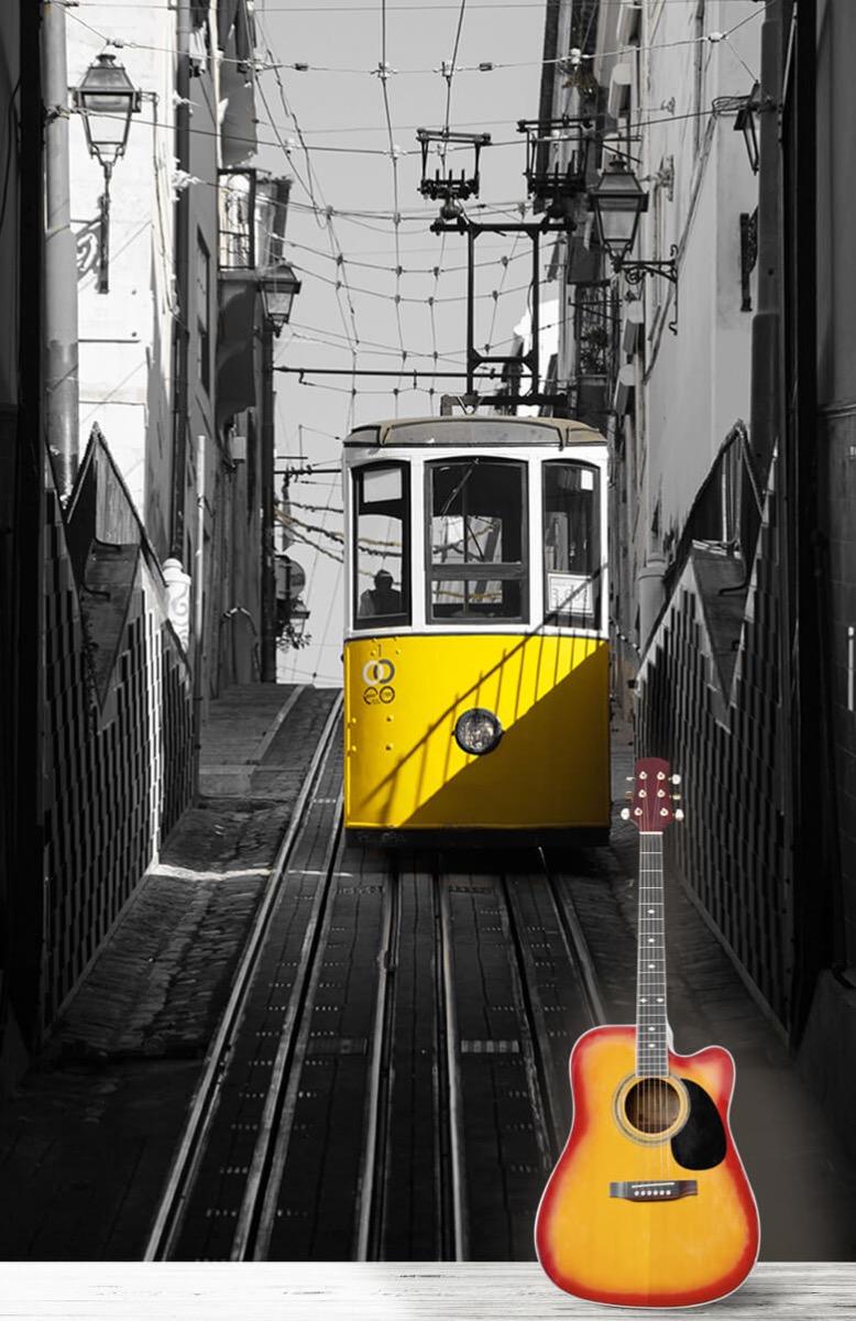 Transport Tram zwart wit geel 11