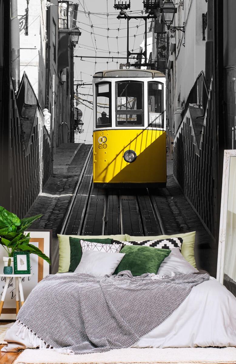 Transport Tram zwart wit geel 13