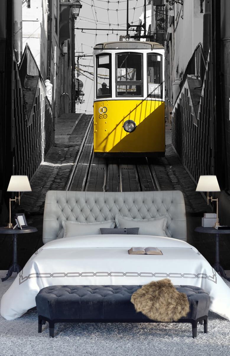 Transport Tram zwart wit geel 14