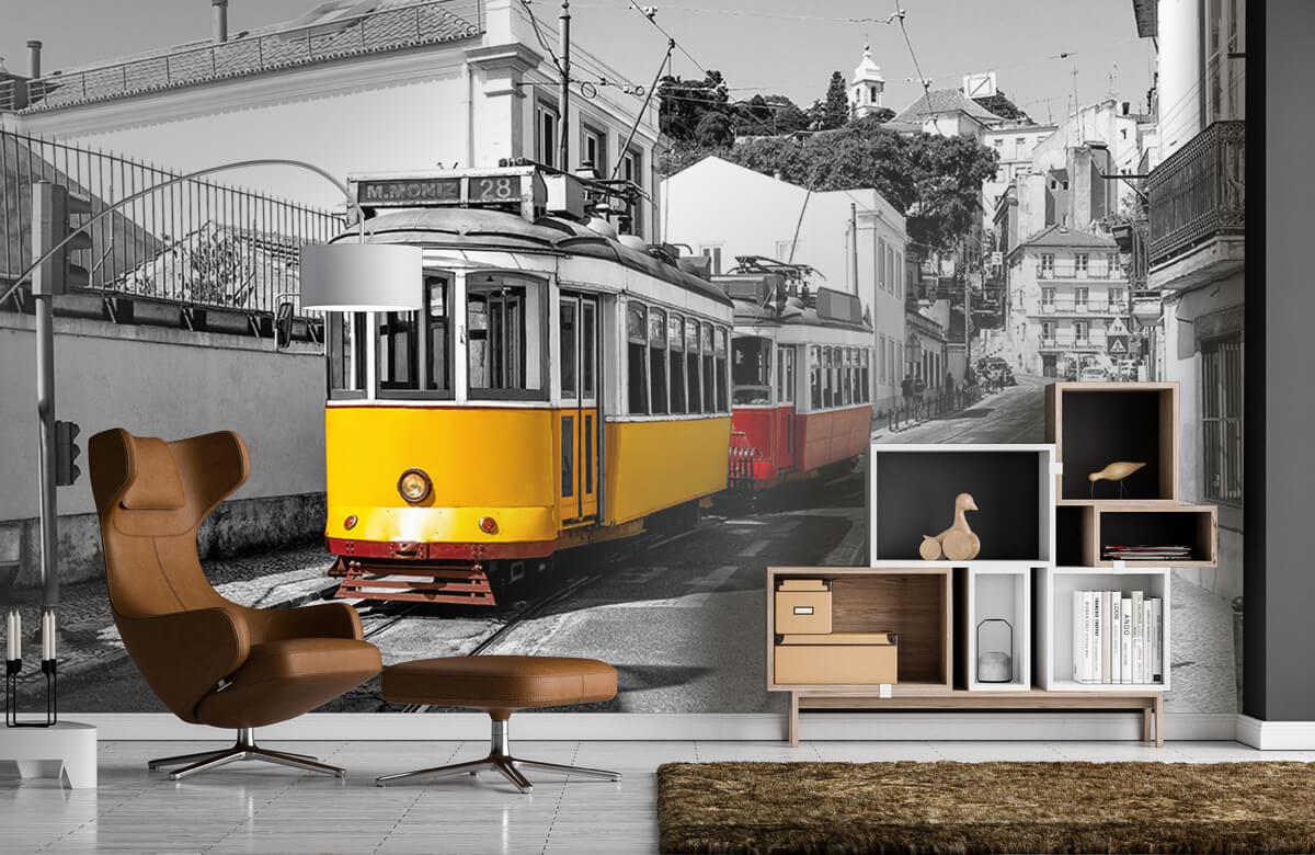 Transport Gele en rode tram 1