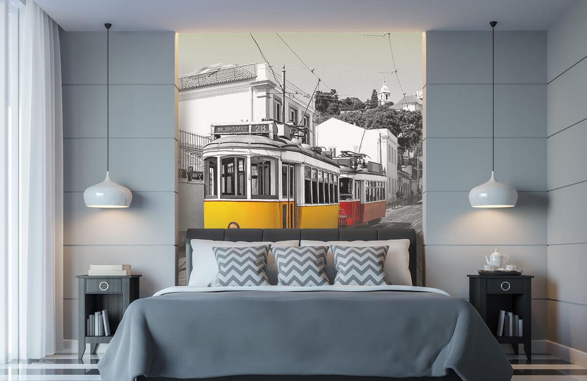 Transport Gele en rode tram 8